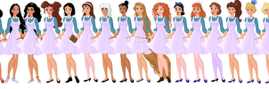 Disney All-Girls Academy Students by supereilonwypevensie