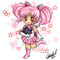 chibi sailor minimoon by Dark-kitten158