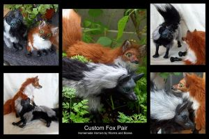 Custom Fox Pair by WormsandBones
