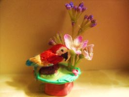 The Macaw Vase by Artzy-chick