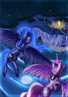 Princesses over Queensmouth by Sintakhra