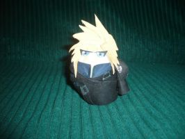 Cloud Strife egg cosplay by renzantolin