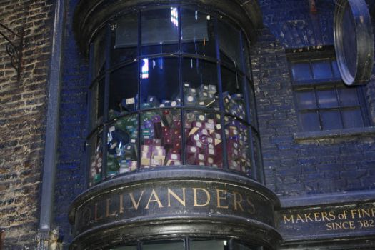 Ollivanders wands at the window by fairychamber