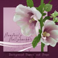 Heavenly Hollyhocks Exclusive by NGArtPlay Designs by FantasiesRealmMarket