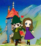 Art Trade: Snufkin and Hilliana in love by princessahagen