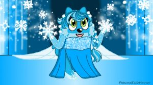 Toodee as Elsa the Snow Queen by PrincessKatieForever