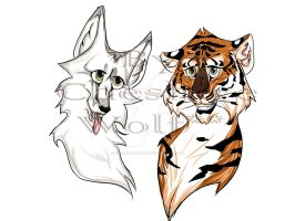 Wolf And Tiger by CheshireWolf98
