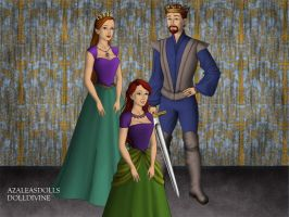 King Triton, Queen Athena, and Princess Ariel. by Katharine-Elizabeth