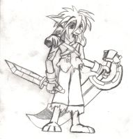 Reynard and his big sword by Squall179