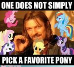 One does not simply pick a favorite pony... by NorthernLightsmlpfim