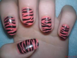 Tiger Nail Design by AnyRainbow