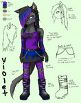 Violet Reference by TatsuoMizushima