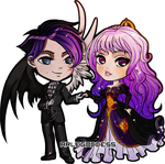 Commission: Deimos and Lyssa by aRLegOdDesS