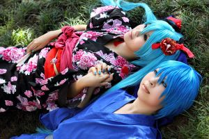 VOCALOIDs - Forever and Ever by kumakuku
