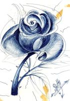 rose in blue by lotti1984