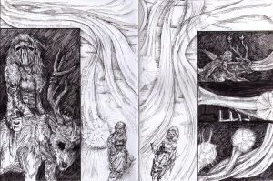 Lucifher - Graphic Novel Page 2 and 3 by xCarnationFox