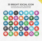 Bright Social Icons by Chrisworks