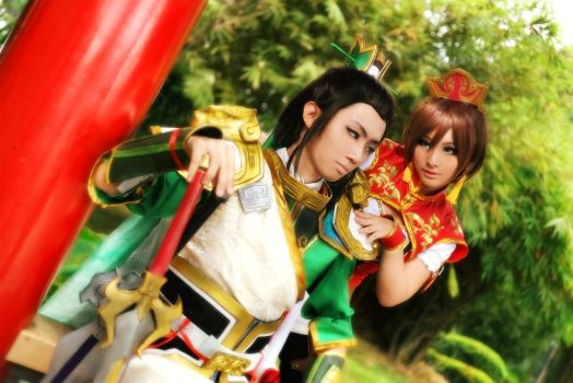 Dynasty Warrior 8 - Sun Shang Xiang and Liu Bei by crystalfirey
