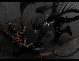 A fight to the abyss by Dezilon
