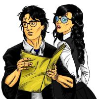 Harry and Heather Potter, Mirrored by LilyFlorette