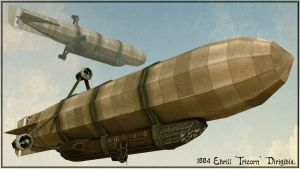 1884 Ebrill Tricorn Airship by RichMorgan