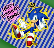 Happy 22nd Birthday Sonic! by DanielasDoodles