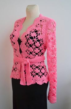 Pink cardigan by dosiak