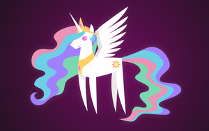 Minimalist happy Princess Celestia by evilglen