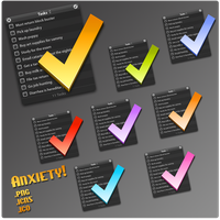 Anxiety icons by carlachan