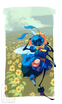 AT: Bee in a Bonnet by Pepperoonie
