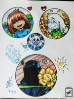 Undertale Ellipse portraits_ fully marked :3 by wsache2020