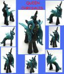 QUEEN CHRYSALIS custom sculpture MLP FIM 4 sale by MadPonyScientist