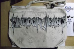 Kingdom hearts bag (letters) by BlueStripedRenulian