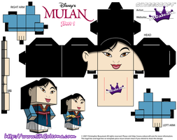 Cubeecraft of Mulan in her Saving China Dress Pt1 by SKGaleana