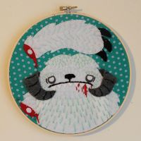 Whimpering Wampa Embroidery by loveandasandwich