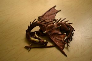 Polymer Clay Dragon Sculpture by AmbitiousArtisan
