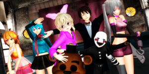 FIVE NIGHT'S AT FREDDY 2 MMD by NightSilverChelly