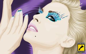 kylie minogue  vexel by gdvectors