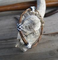 Adjustable Horsehair Bracelet - Buck and Buddy by TarpanBeadworks