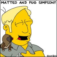 Matteo and Pug Simpson by yawn2oo