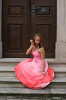 Pink dress stock 09 by Malleni-Stock