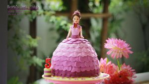 058 - Barbie Doll Cake by AbbyShue