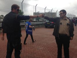 Rick Grimes VS The Governor Cosplay by Spider-Matt