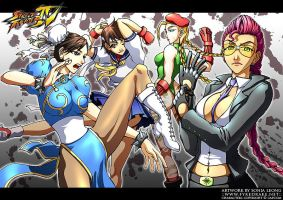 Street Fighter IV gals by sonialeong