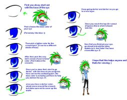 Anime eye tutorial in paint by collogethecat