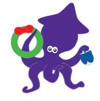 Jolly Holiday Squid by FairyFindings