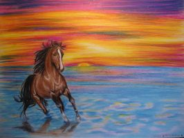 Horse in Dream Colors by CallieFink