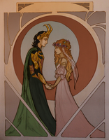 Asgardian Wedding by wolf-pirate55