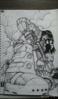 GOW inspired sketch. by Wedge40