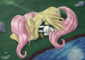 Good Night Fluttershy by Gaiascope